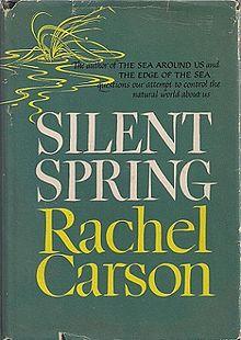 Cover van originele uitgave 1962. Rachel Carson. Copyright: voor beschrijving boek toegestaan.