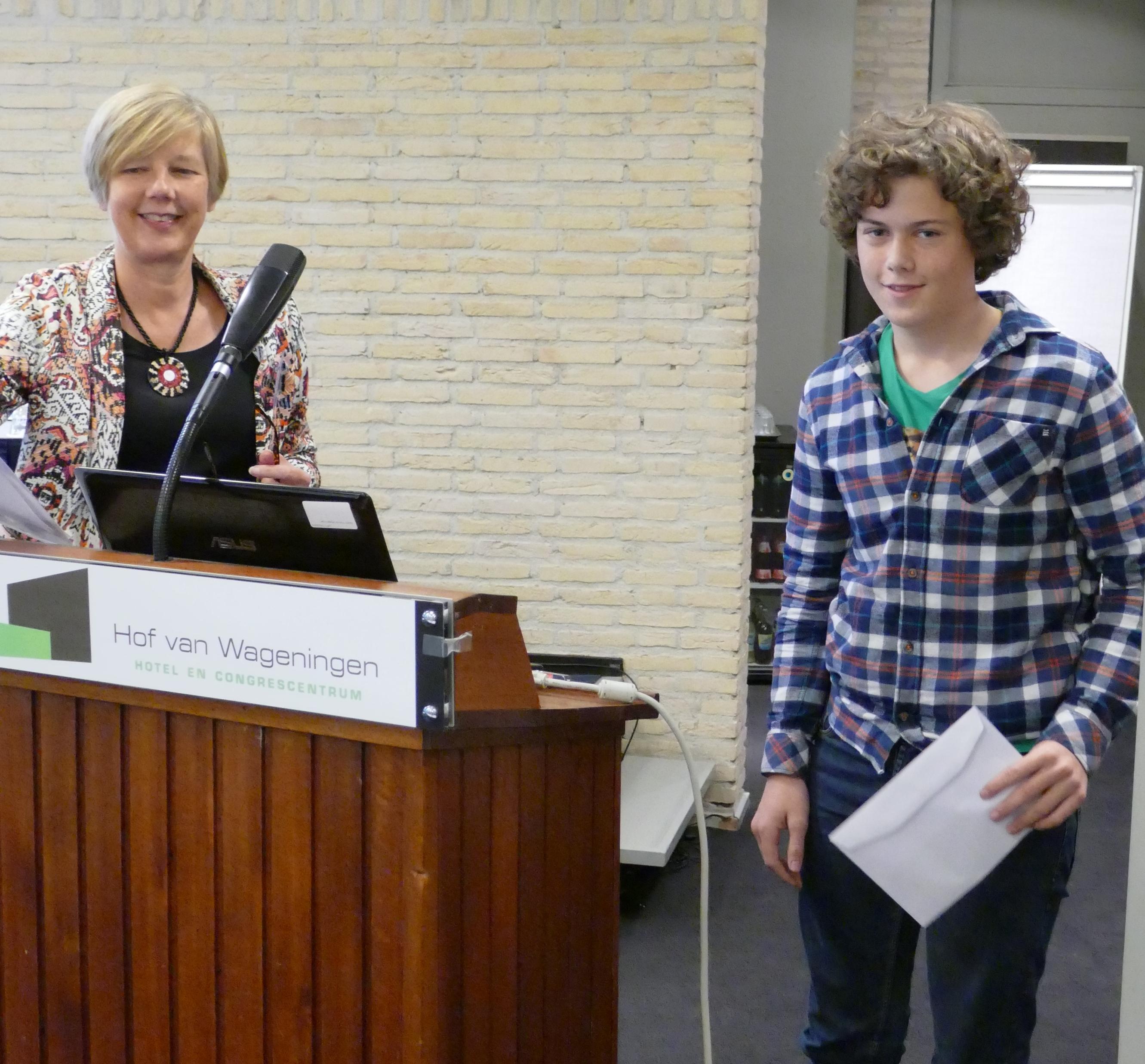 Frans Laporte wint de verhalenwedstrijd van de KNPV